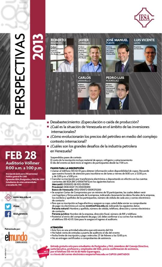 Invitación 2 Perspectivas IESA 2013