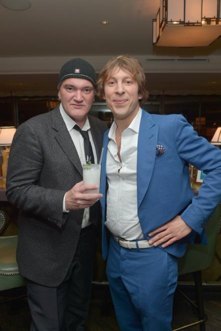 Quentin Tarantino con un Coco Django y el Global Ambassador de Grey Goose Ludo Miazga