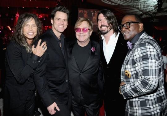 Steve Tyler, Jim Carrey, Elton John, Dave Grohl, Randy Jackson