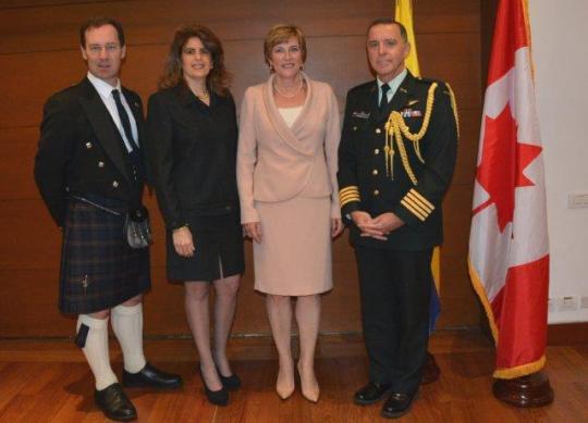 Ian McKinley: Political Counsellor, Yasmin Sabbag: Air Canada Country Director,   Carmen Sylvain; Canadian Ambassador,   Coronel Jean-Louis Chevalier; Canadian Defence Attaché.