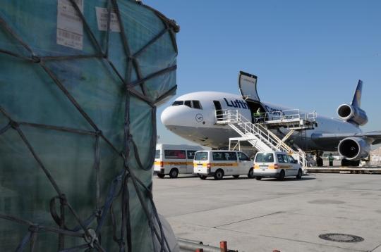 45 Toneladas de medicamentos llegaron a Maiquetía en un MD11 de Lufthansa Cargo