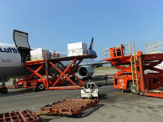 Durante las próximas semanas el grupo alemán tiene prevista la llegada de 5 vuelos adicionales de Lufthansa Cargo