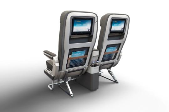 Lufthansa butaca Premium Economy posterior