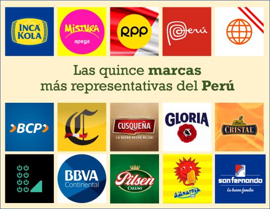 Las 15 marcas del Peru